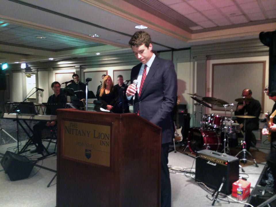 Jeffrey Biernet giving benediction - Theta Chi Gala - Oct. 21, 2013