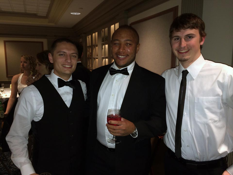 Geoffrey Rolstone, Michael Crawford and Alex Tessmer - Theta Chi Gala - Oct. 21, 2013