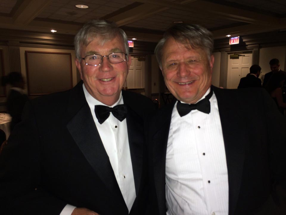 John Weiss Jr.(L) and Robert Zedelis - Theta Chi Gala - Oct. 21, 2013