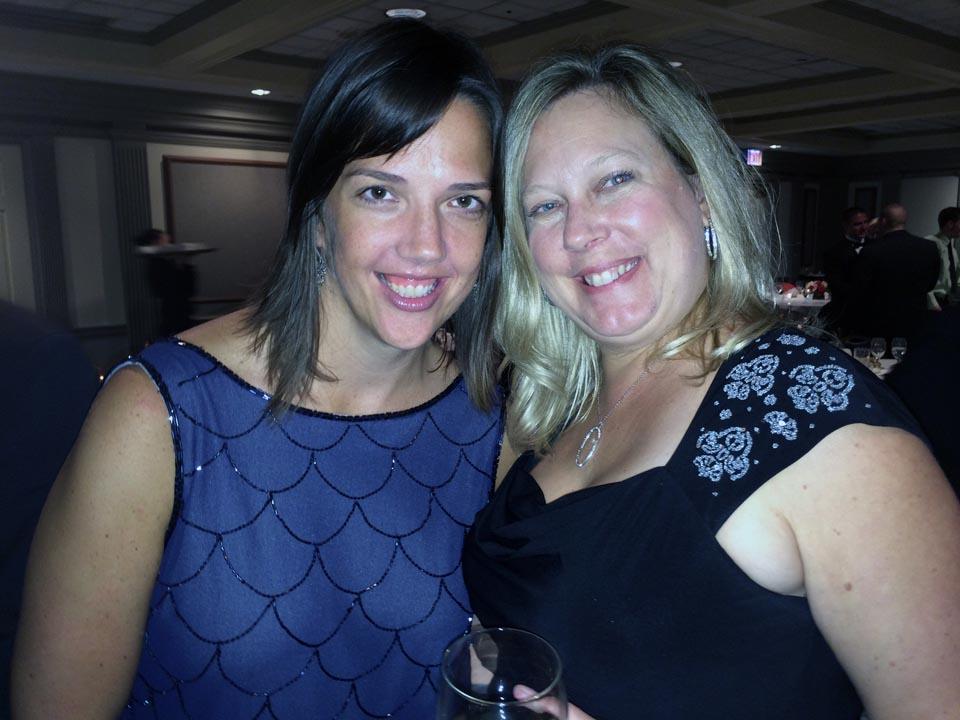 Lori Stein (L) and Kristin Stuhltrager  - Theta Chi Gala - Oct. 21, 2013