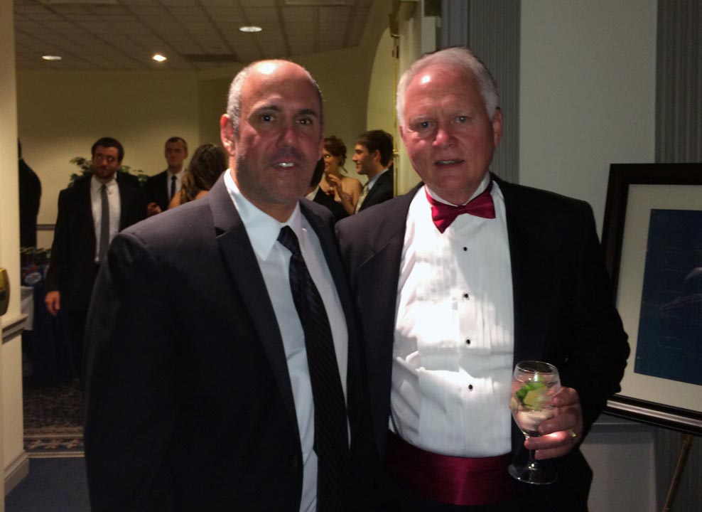 Richard Maltz (L) and National's David May - Theta Chi Gala - Oct. 21, 2013