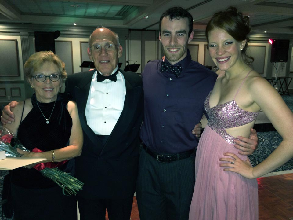 Jean BArtnik, Richard Bartnik, Ben Walker and Rachel Georgea - Theta Chi Gala - Oct. 21, 2013