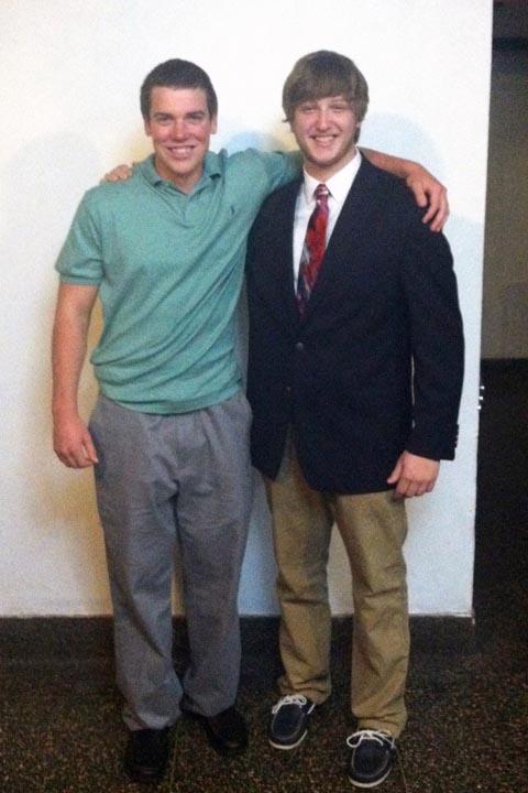 Ryan Gattoni (L) and Nick Stadtlander - Big Little Brother Night - Oct. 20, 2013