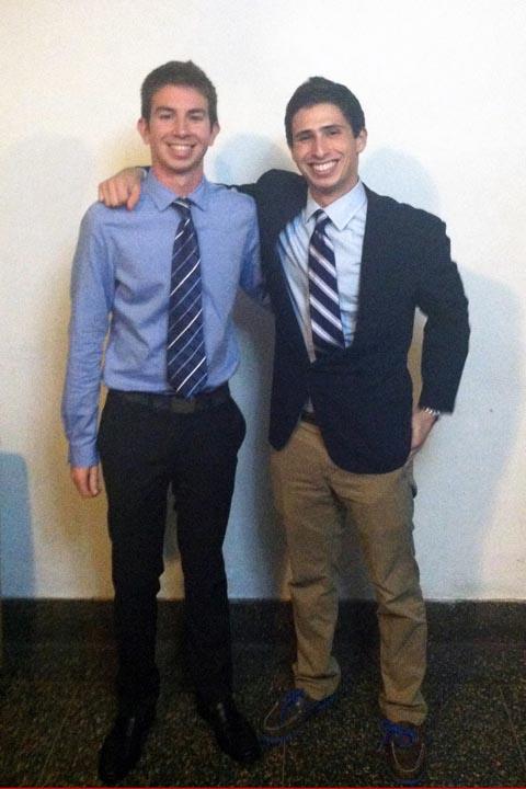 Stephen Skoler (L) and Max Salons - Big Little Brother Night - Oct. 20, 2013