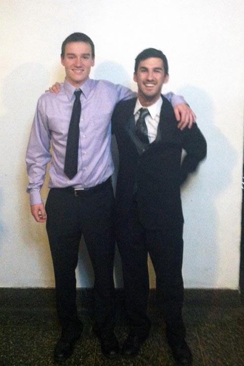 Mark Joyce (L) and Zach Bunsick - Big Little Brother Night - Oct. 20, 2013
