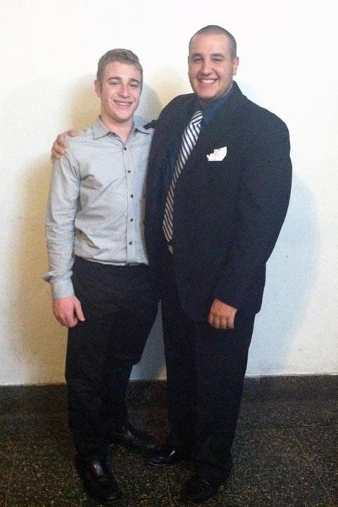 Alex Blankman (L) and Jason Jonas - Big Little Brother Night - Oct. 20, 2013