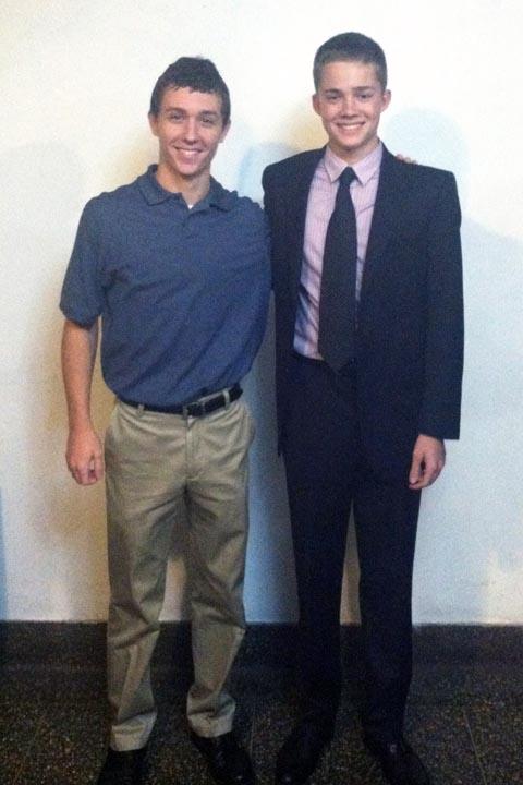 Caulen Herschman (L) and Tim - Big Little Brother Night - Oct. 20, 2013