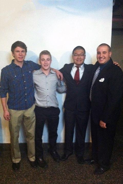 Edward Brand, Alex Blankman, Andrew Sie and Jason Jonas - Big Little Brother Night - Oct. 20, 2013
