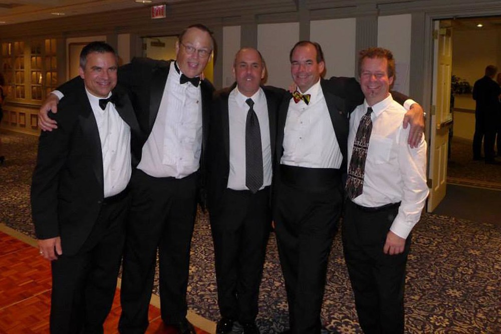 Edward M. Brown, Hugh Cadzow, Richard Maltz, Leo Sugg and Rodney D. Miller - Theta Chi Gala - Oct. 21, 2013