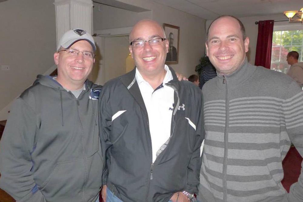 Chris Bartnik, Jim Stuhltrager and Michael Stein- Theta Chi Lunch - Oct. 21, 2013