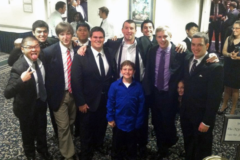 Andrew Sie, Zach Meharey, Danny Lim, Jerry Crompton, AJ Bobby, Alejandro Buxo, Kevin Trippel and Kyle Sussman - Theta Chi Gala - Oct. 21, 2013
