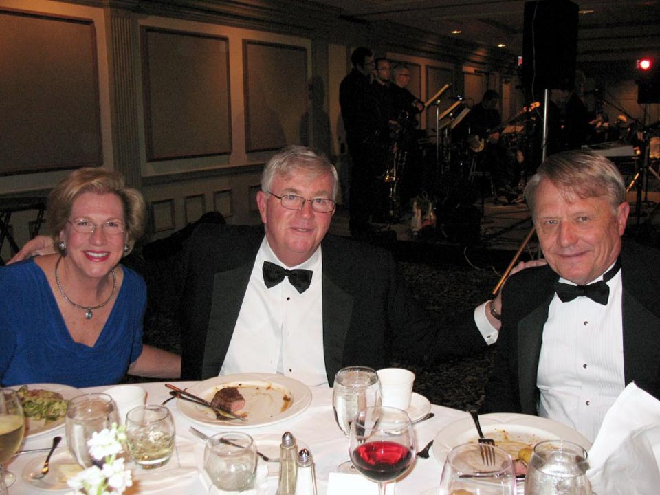 L to R: Ruth & John Weiss with Robert Zedelis - Theta Chi Gala - Oct. 21, 2013