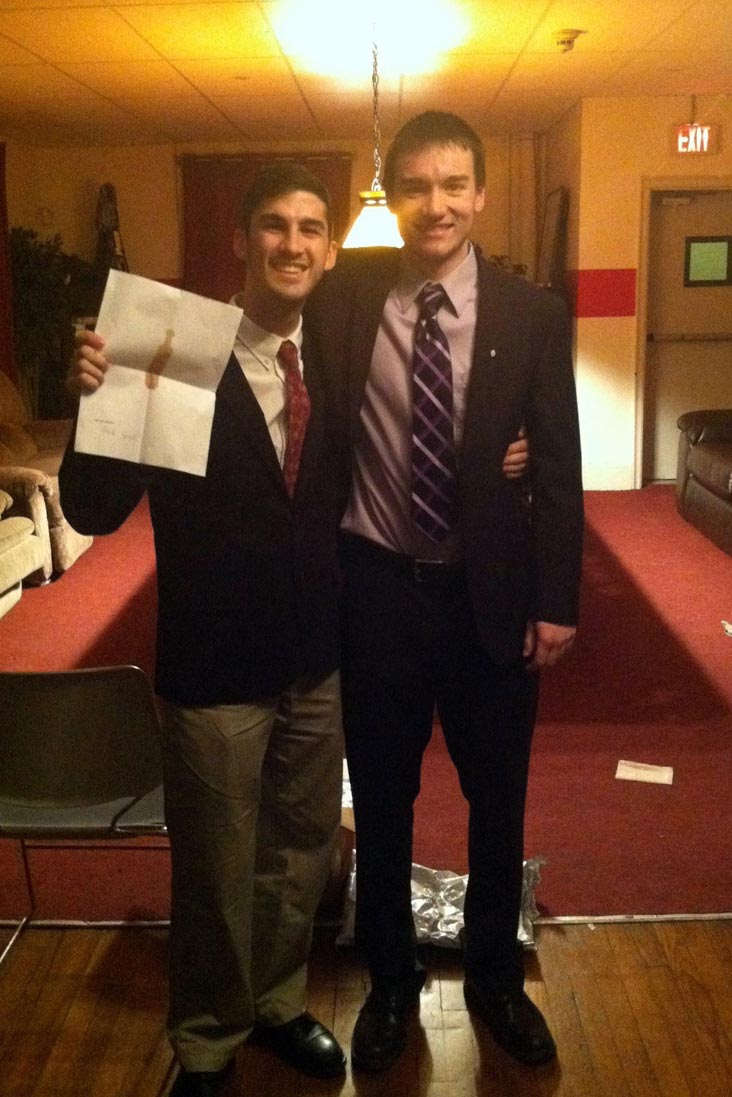 Zach Bunsick and Mark Joyce - Initiation Night - Fall 2013 - Nov. 15, 2013