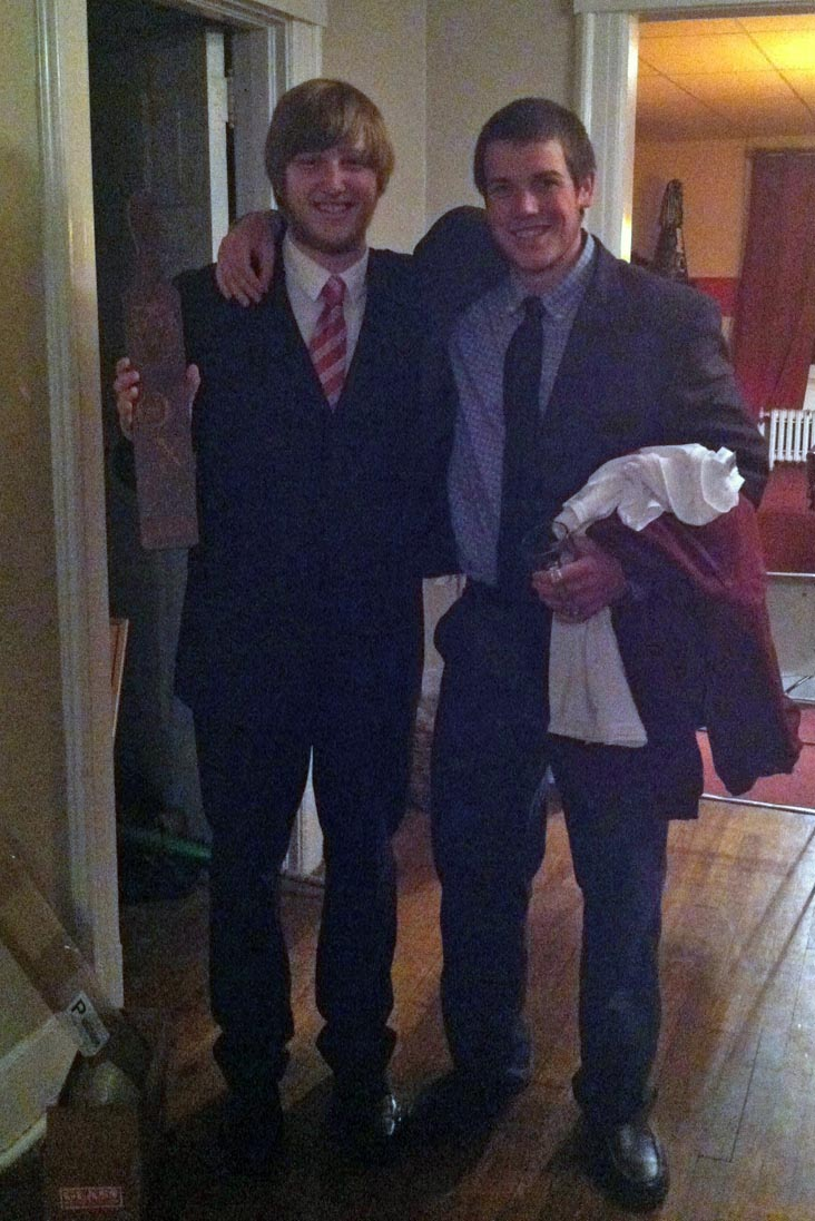 Nick Stadtlander and Ryan Gattoni - Initiation Night - Fall 2013 - Nov. 15, 2013