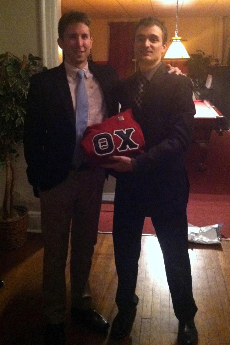 Zach Dugan and Alex Patton - Initiation Night - Fall 2013 - Nov. 15, 2013