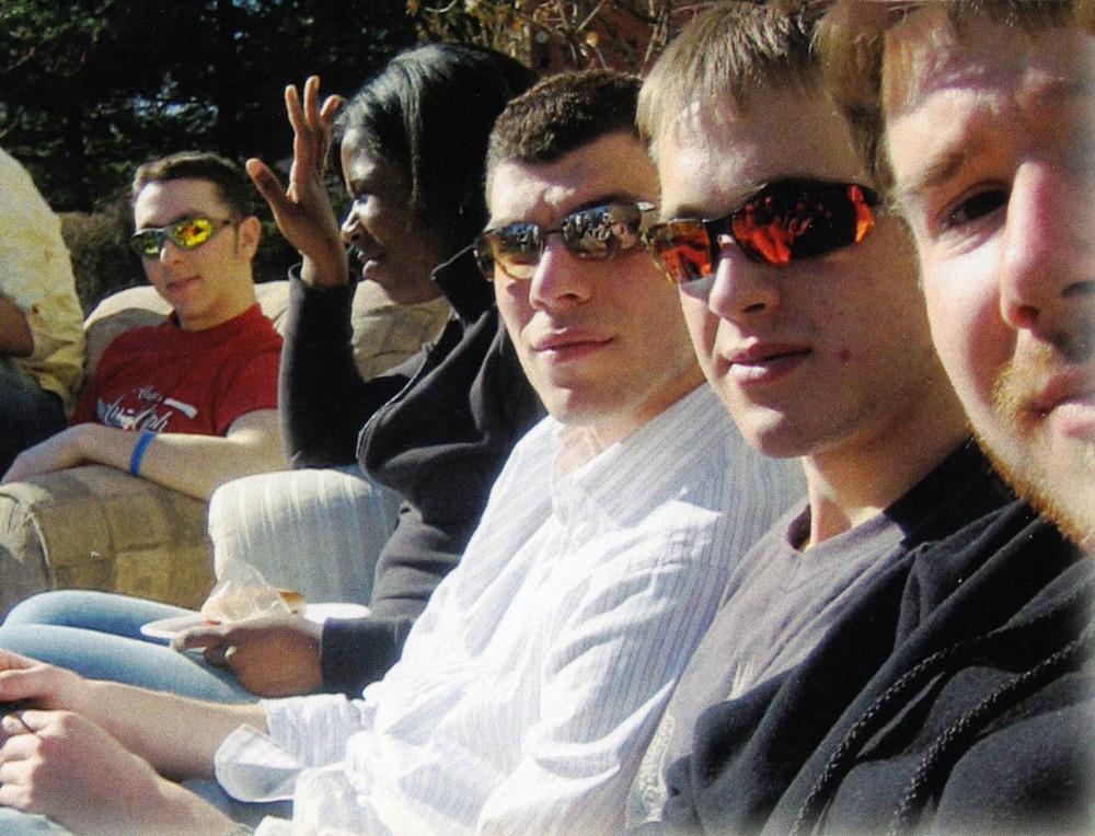 L to R: TK, Yan Tseytlin, Joseph Aranowski and Artem Dinaburg2006 Springtime cookout