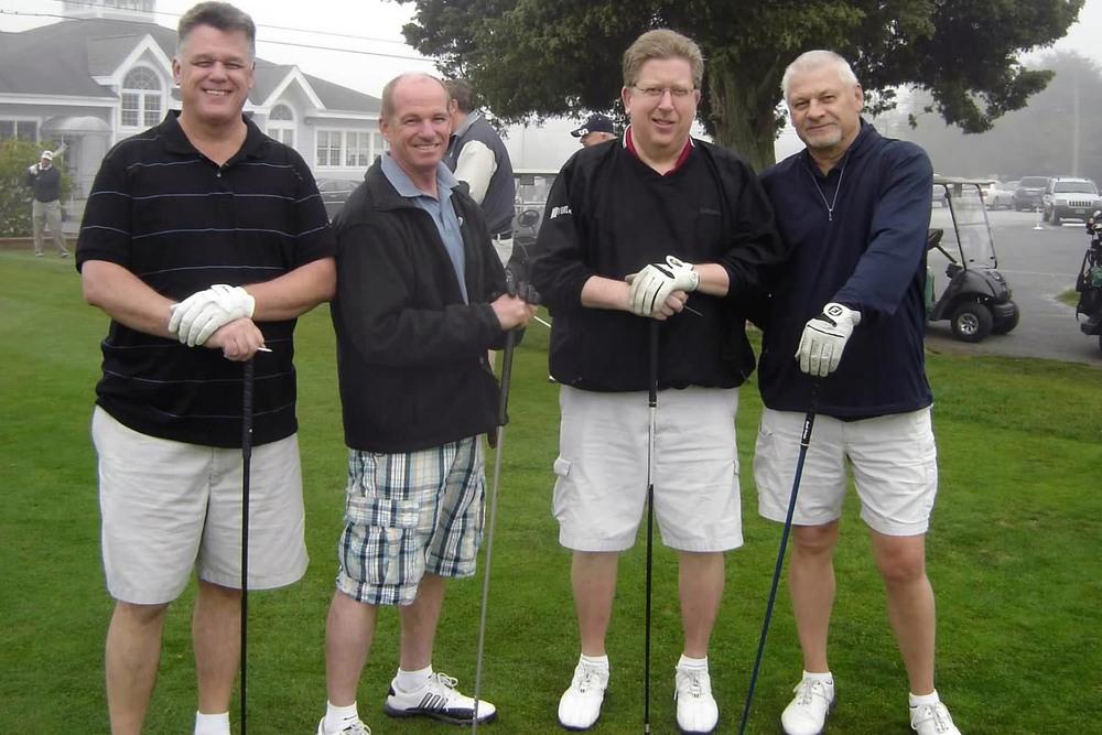 2012 Theta Chi Golf OpenL to R: Dan McTague, Bob Hunter, Vic Howe and John Wszalek