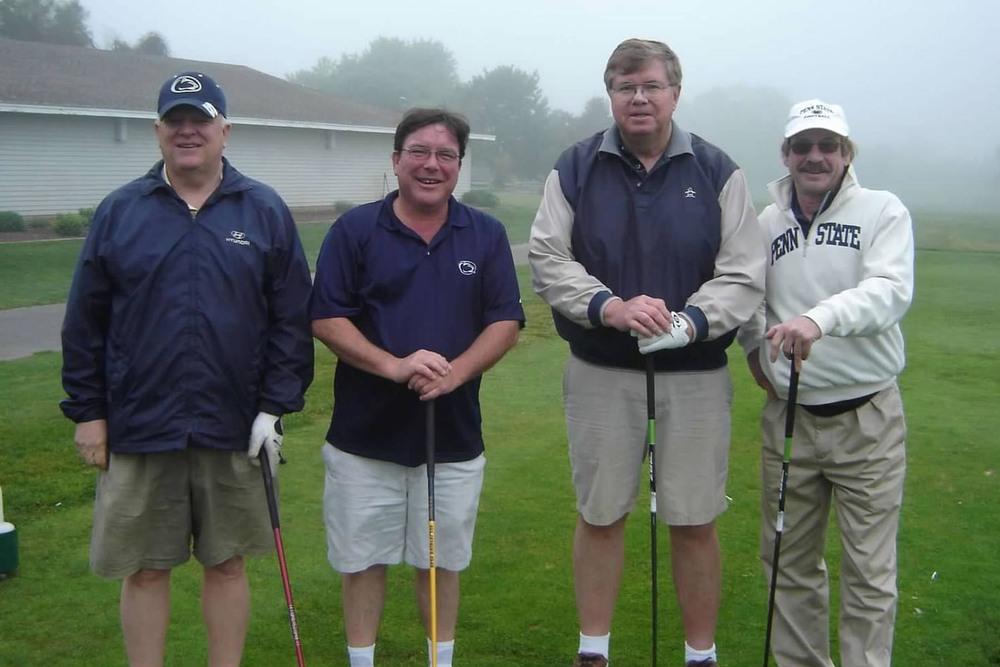 2012 Theta Chi Golf OpenL to R: Mike Perkins, Bill McGill, Paul Cunningham, John Loyle