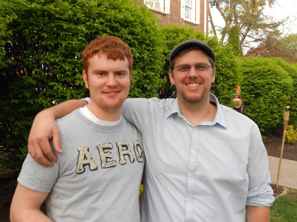 Troy Slack (L) and Sean Haggerty Greek Week Cookout