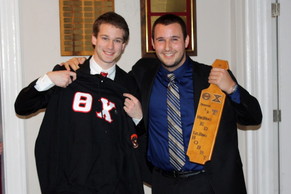 Little Brother Bobby Aichele (L) and Big Brother Ed Wallace