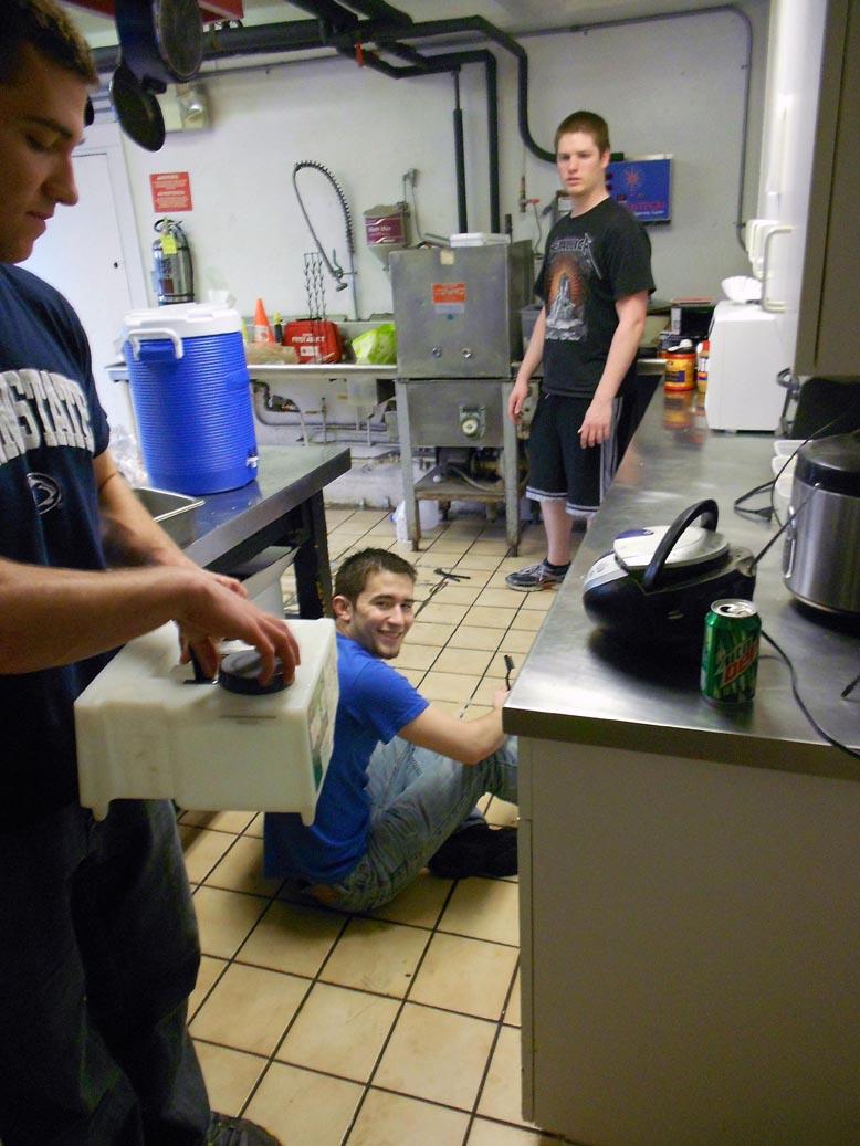 Left to Right: Mathew Randazzo, Sam Kulp, Ian Maxwell2012 Alumni Work Weekend