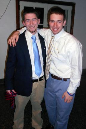 Sam Kulp (left) and Ian BrodskyBig Little Brother Night