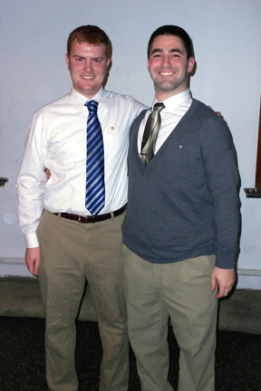Troy Slack (left) and Christian Gouse Big Little Brother Night