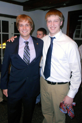 Aaron Speagle (left) and Nick Stadtlanter Big Little Brother Night