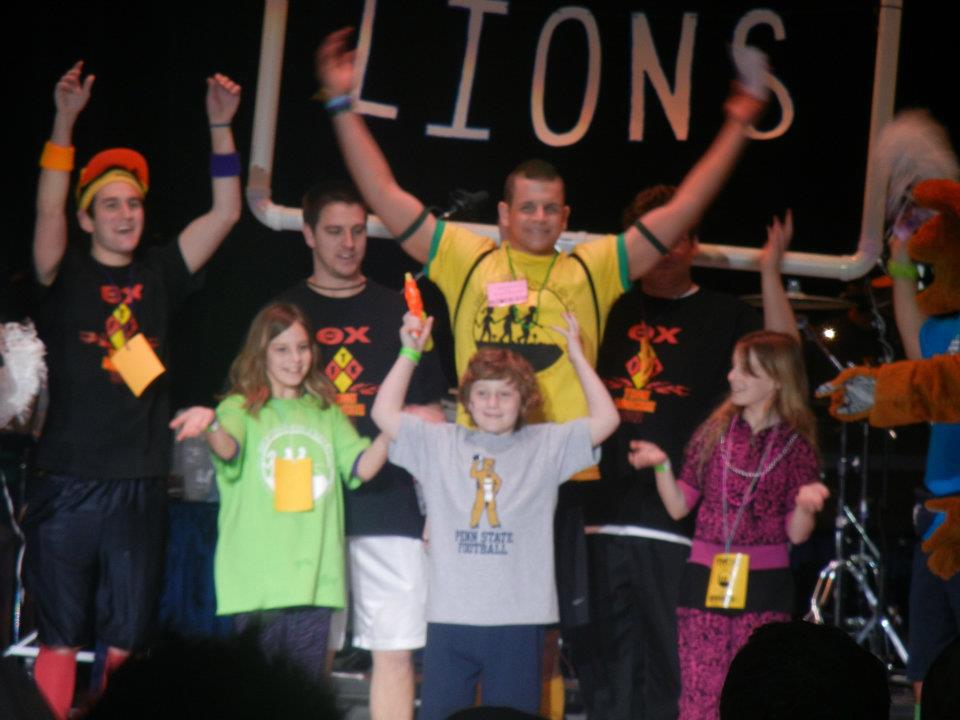 L to R: Nick Lello, Alexis Bobby, Andy Bobby, AJ Bobby, John Boston, Julien Hohman, Anabelle Bobby2012 Dance Marathon