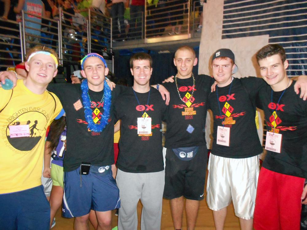 L to R: Kevin Trippel, Kent Bare, Jim Barret, Brent Homcha, Troy Slack, Sebastian Riegber2012 Dance Marathon