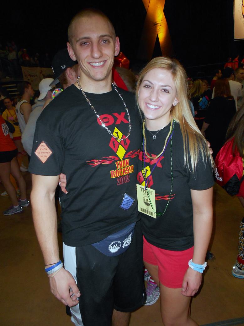 Brent Homcha and Sarah Guzinski2012 Dance Marathon