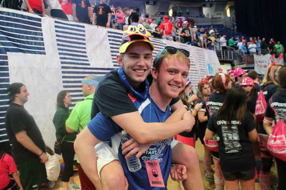 Kent Bare (L) and Tyler Doppelheuer 2012 Penn State Dance Marathon