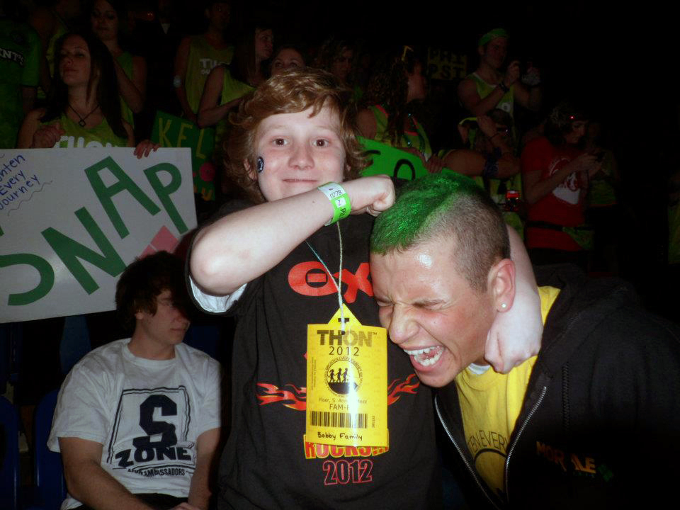 AJ Bobby, OX's THON child (L) and John Boston
