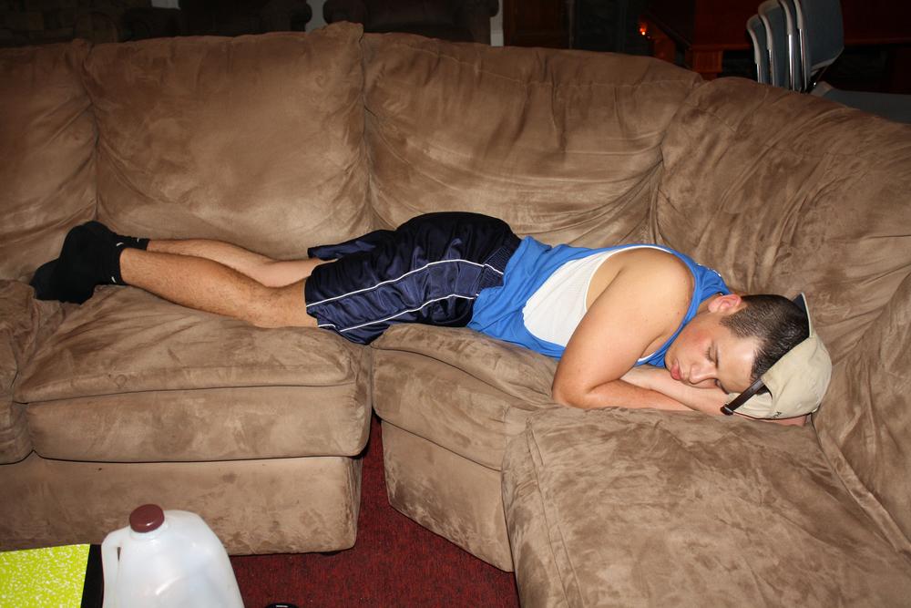 John Boston asleep on the couchFall 2011