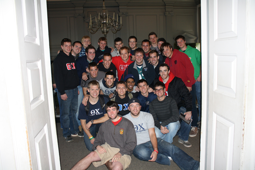The brothers in the signing room of Independence Hall during the fall trip to Philadelphia