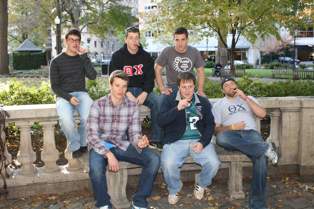 Back: Nick Lello, Kyle Sussman, Matt RandazzoFront: Jeb Biernat, Jeremy Railing, and Ed BenishFall 2011