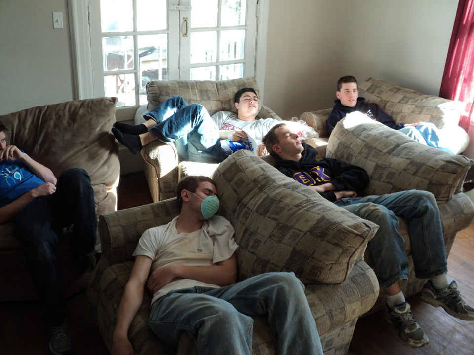 Pete Imler, Kent Bare, Zach Mehary, Grant Gaston, and Matt Randazzo4th Annual Alumni Work Weekend - 2011