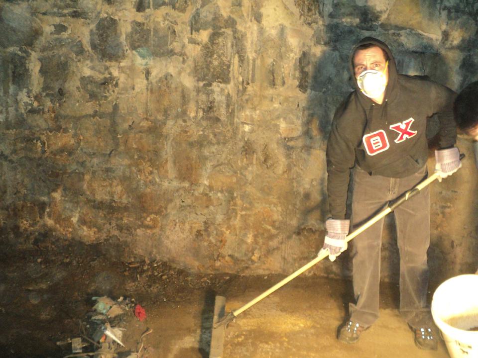 Jason Chottiner - in coal room4th Annual Alumni Work Weekend - 2011