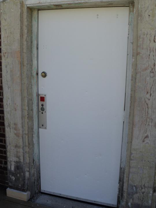 Painted Fire Door (side door)4th Annual Alumni Work Weekend - 2011
