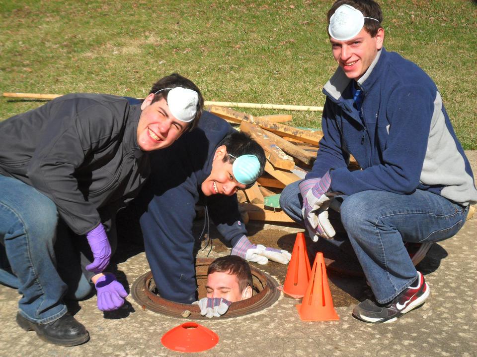 L to R: Matt Gendelman, Julio Alva, Christian Pryor, Kyle Sussman4th Annual Alumni Work Weekend - 2011