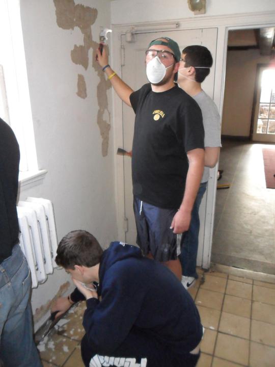 Mitch Hulderman, Ed Benish, Zach Mehary4th Annual Alumni Work Weekend - 2011