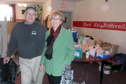 Mr. John Damcott and Jean Bartnik4th Annual Alumni Work Weekend - 2011