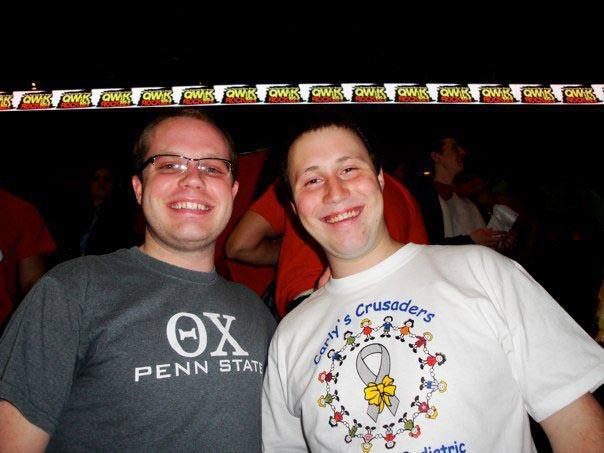 James Patterson (L) and Jeremy RailingThon 2011