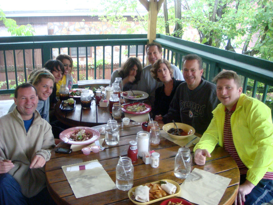 Adam Ruskin (far left), Anthony Dejulius (right in the steelers shirt) with family members.