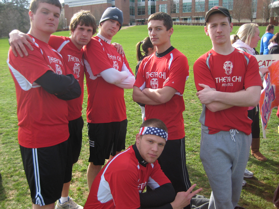 L to R: Collin Scheible, Josh Greever, Aaron Speagle, Greg Smith, Geoff Rolstone, Nate GrossAlpha Delta Pi's 'Pilympics'