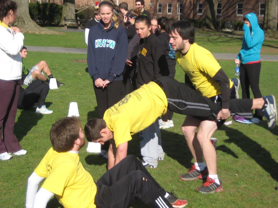 L to R: Daniel Cartwright, Jake Kerr, Nick GeyerAlpha Delta Pi's 'Pilympics'