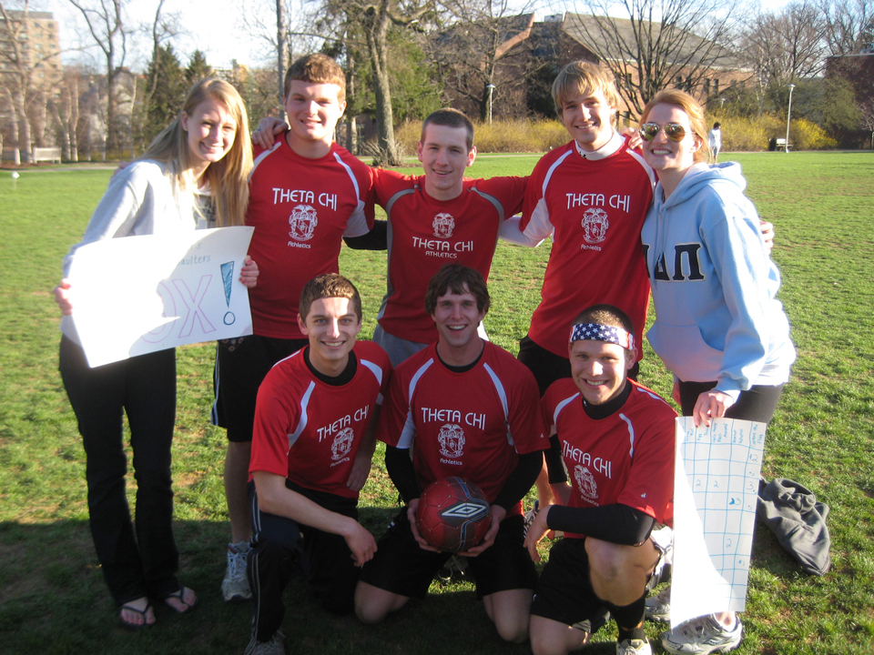 Top Row L to R: Collin Scheible, Nate Gross, Aaron SpeagleBottom Row L to R: Geoff Rolstone, Josh Greever, Greg SmithAlpha Delta Pi's 'Pilympics'