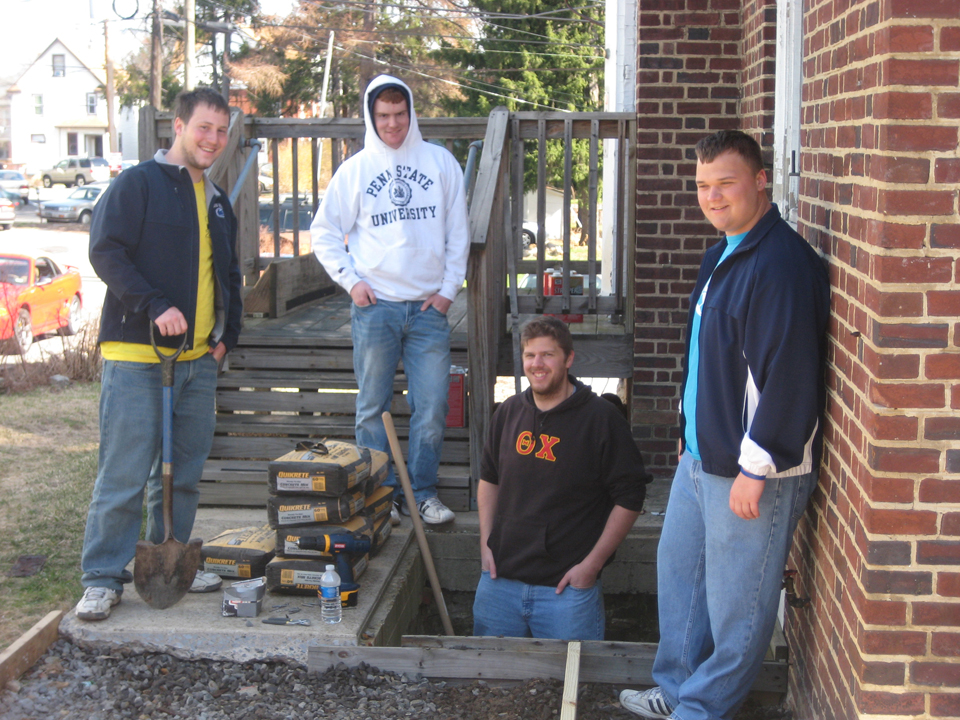 L to R: Jeremy Railing, Troy Slack, Sean Haggerty, Mike GarminAlumni Work Weekend