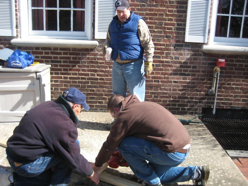 L to R: Richard Bartnik, John Thomas and Jason ClarkAlumni Work Weekend