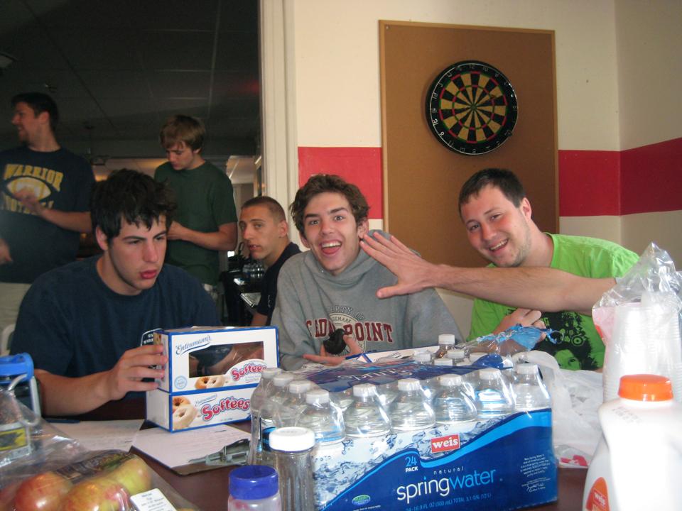 Back Row L to R: Sean Haggerty, Aaron SpeagleFront Row L to R: Matthew Gendelman, Kent Bare, Jeremy RailingAlumni Work Weekend